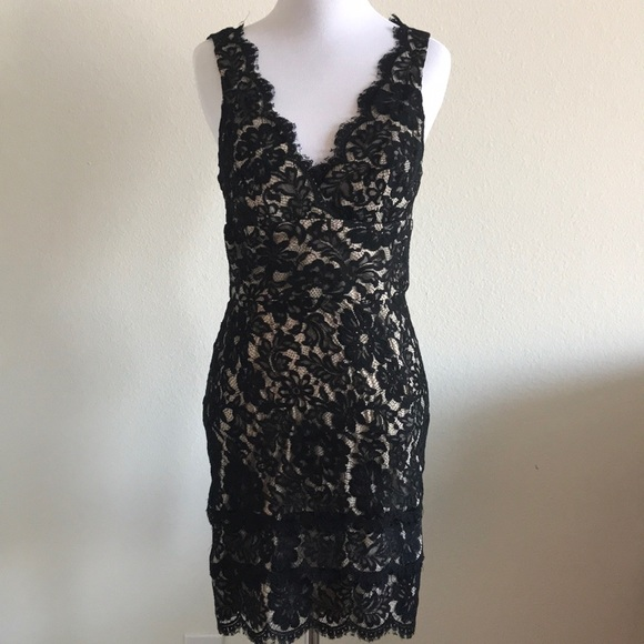 Dresses & Skirts - Black and nude illusion dress Small